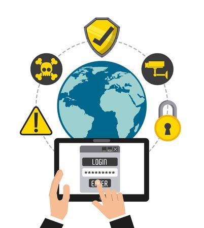 cyber security design, vector illustration graphic Illustration