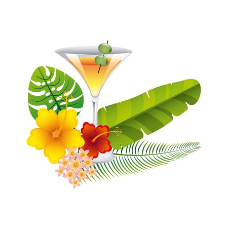 tropical drink: tropical drink design, vector illustration graphic Vectores
