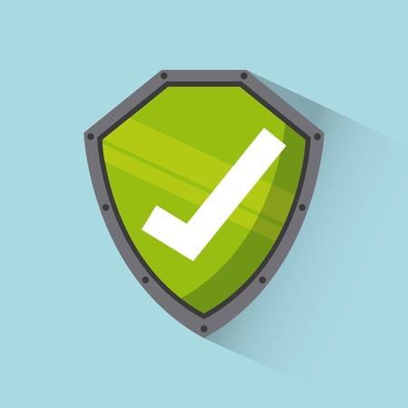 protección: diseño de la seguridad cibernética, ilustración vectorial gráfico Vectores