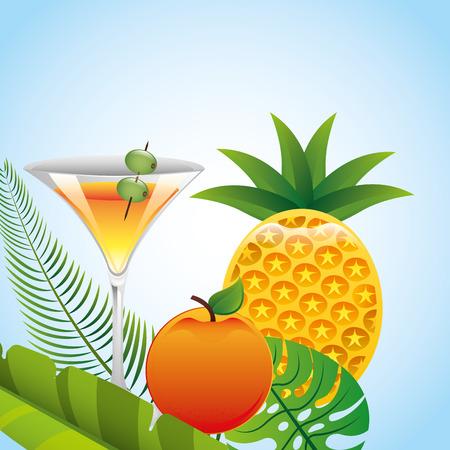tropical drink: dise�o bebida tropical, ilustraci�n vectorial gr�fico eps10 Vectores
