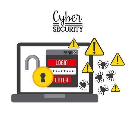 cyber security: cyber security design, vector illustration eps10 graphic Illustration