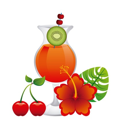 tropical drink: tropical drink design, vector illustration  graphic