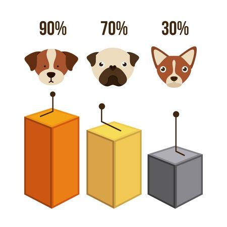 domestic animals: domestic animals design, vector illustration  graphic