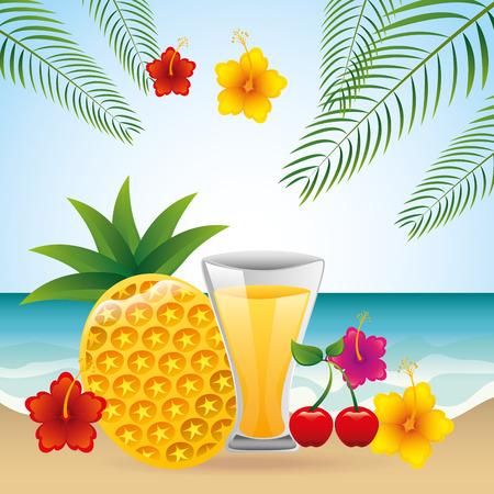 tropical drink: dise�o bebida tropical, ilustraci�n vectorial gr�fico Vectores