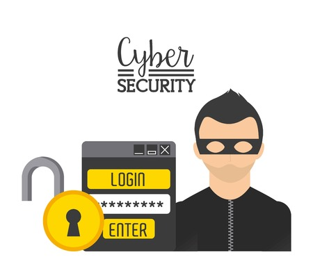 cyber security: cyber security design, vector illustration  graphic