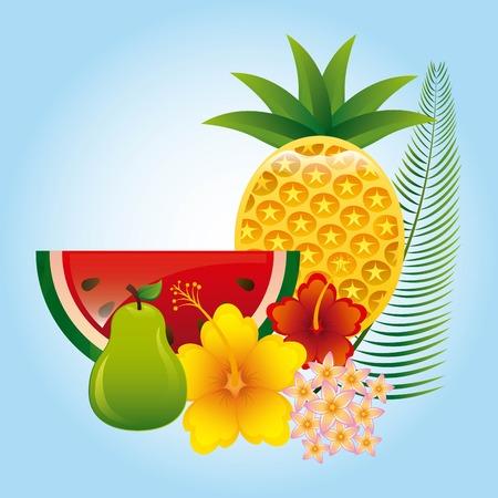 tropical fruit design, vector illustration graphic Vetores