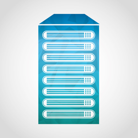 mainframe: data storage center design, vector illustration graphic