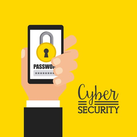 secure security: cyber security design, vector illustration graphic Illustration