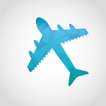 commercial airline: airplane icon design, vector illustration graphic