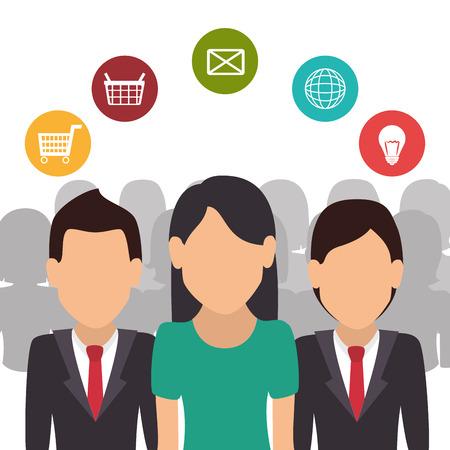 global work company: Human resources design, vector illustration eps 10.