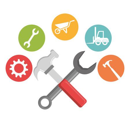construction safety: Under construction design, vector illustration eps 10.