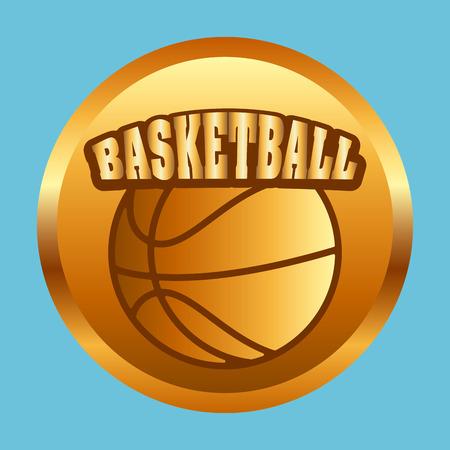 balon de basketball: diseño de deporte de baloncesto, ilustración vectorial gráfico eps10 Vectores