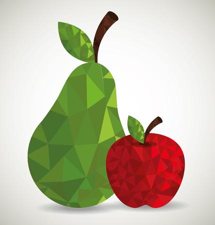 Fruits digital design, vector illustration eps 10.
