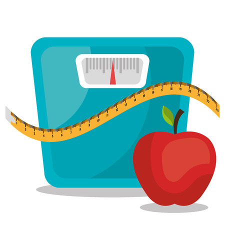 energy balance: Healthy life design, vector illustration eps 10.