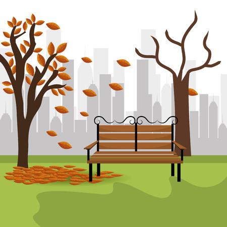 garden chair: Urban park design, vector illustration eps 10. Illustration