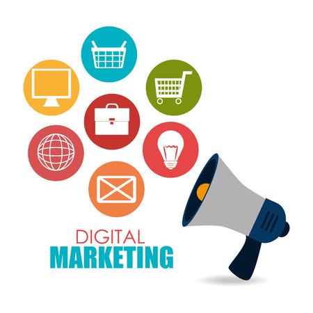 consumer marketing: Digital marketing design, vector illustration eps 10.