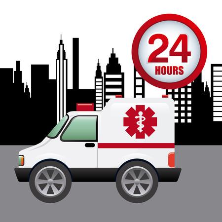 responders: emergency concept design, vector illustration eps10 graphic