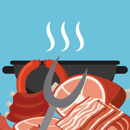 grilling: delicious barbecue design, vector illustration eps10 graphic