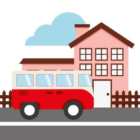 driveway: road concept design, vector illustration eps10 graphic