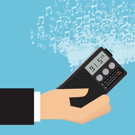 clock radio: music lifestyle design, vector illustration eps10 graphic