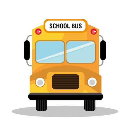 autobus escolar: Volver a la escuela de diseño, ilustración vectorial eps 10. Vectores
