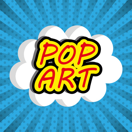 fission: Pop art design, vector illustration eps 10. Illustration