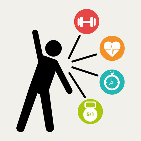 sports training: Healthy life design, vector illustration eps 10.
