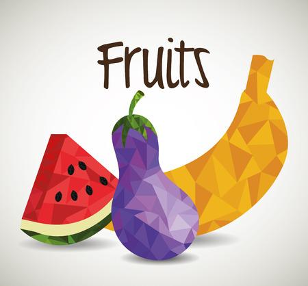 Fruits digital design, vector illustration eps 10. Reklamní fotografie - 42951485