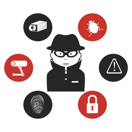 spyware: Security system design, vector illustration eps 10.