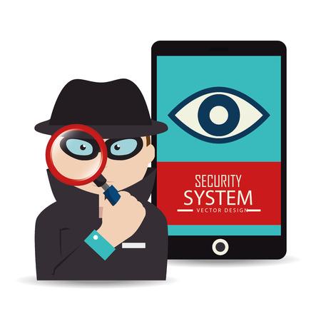 spyware: Dise�o de sistemas de seguridad, ilustraci�n vectorial eps 10. Vectores