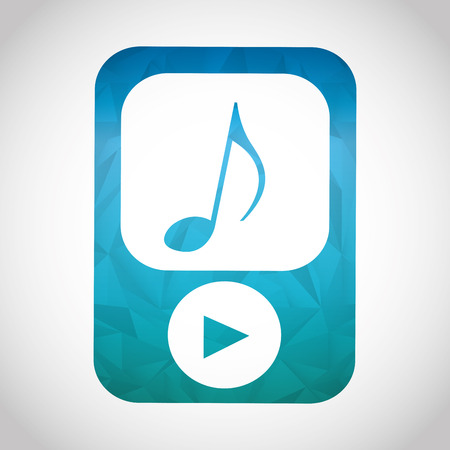 music player: music player icon design, vector illustration eps10 graphic