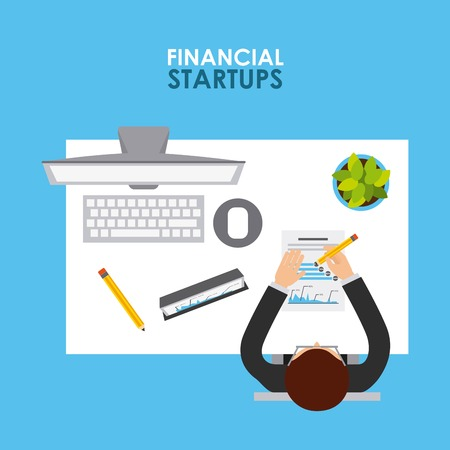 office products: financial startup design, vector illustration eps10 graphic Illustration