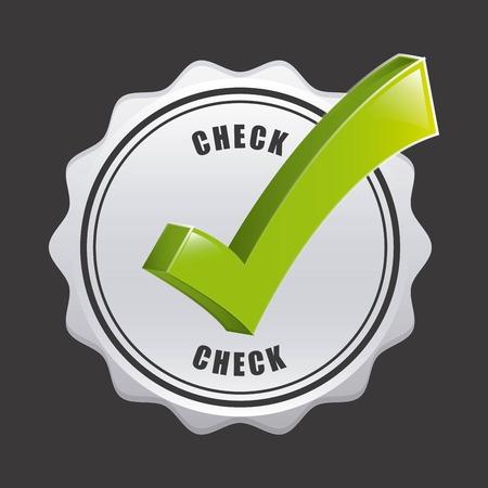 check icon: check icon design, vector illustration eps10 graphic