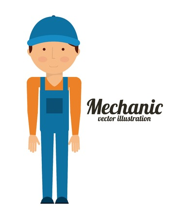 mechanic man: mechanic man design, vector illustration eps10 graphic