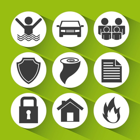 insurance icons design, vector illustration eps10 graphic