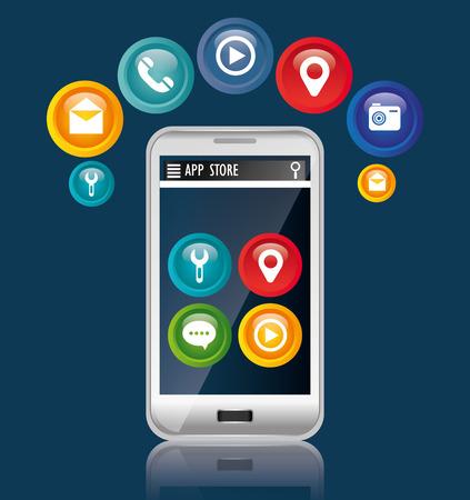 gps device: Mobile technology design, vector illustration eps 10.