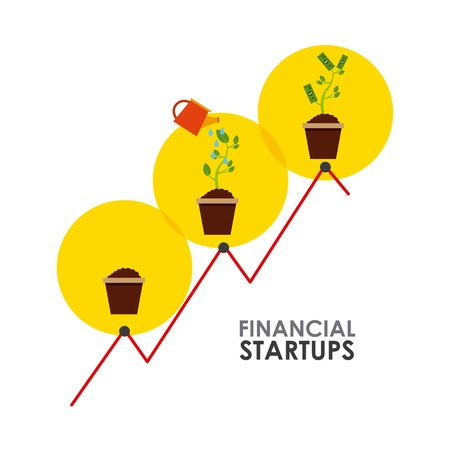office product: financial startup design, vector illustration eps10 graphic Illustration