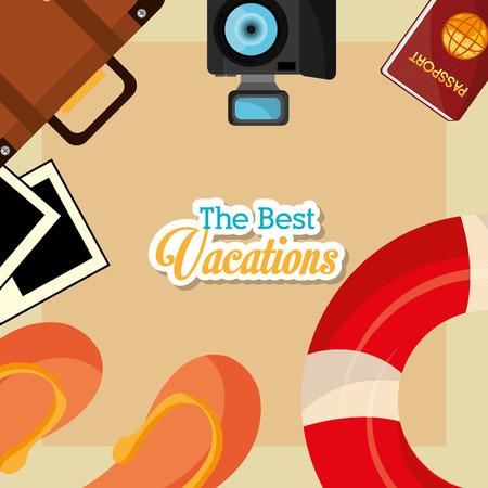 cc: Summer vacations design, vector illustration eps 10.