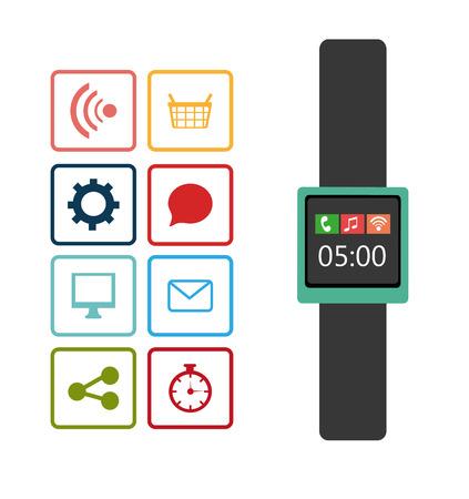 time sharing: Mobile technology design, vector illustration eps 10.