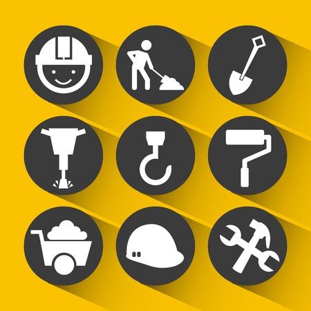 jack hammer: construction icons design, vector illustration eps10 graphic