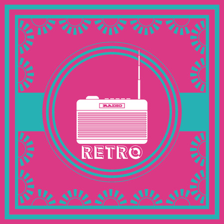 antena: retro lifestyle  design, vector illustration eps10 graphic