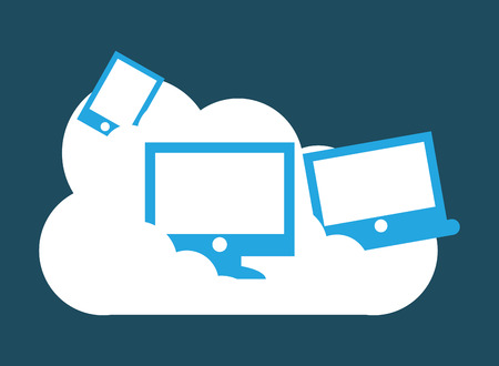 cloud computing: cloud computing design, vector illustration eps10 graphic