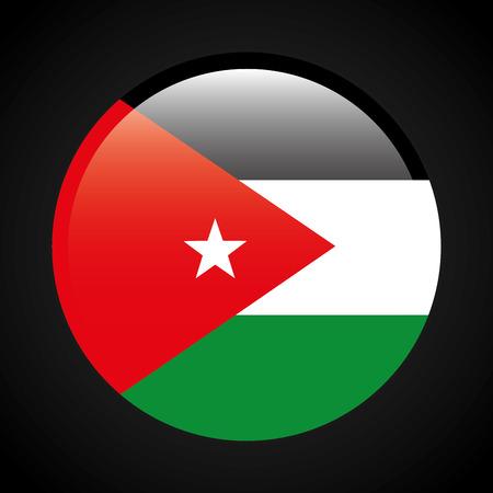 jordania emblem design, vector illustration eps10 graphic Ilustração
