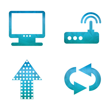computer icons: computer icons design, vector illustration eps10 graphic Illustration