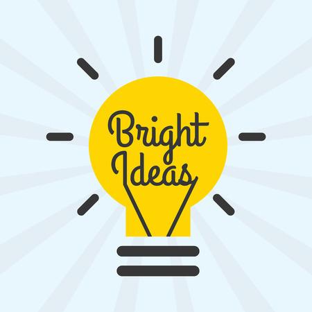 bright ideas: bright ideas design, vector illustration eps10 graphic