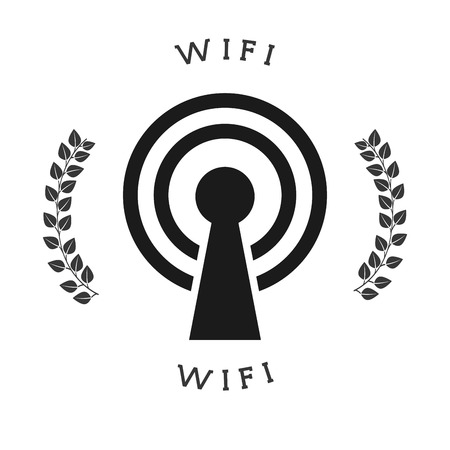 antena: wifi connection design, vector illustration eps10 graphic Illustration