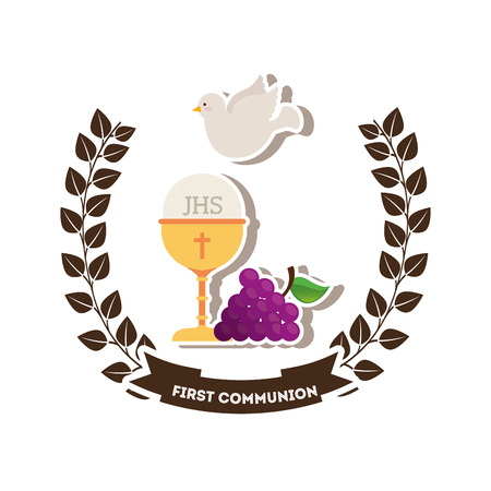 chalice: first communion design, vector illustration eps10 graphic
