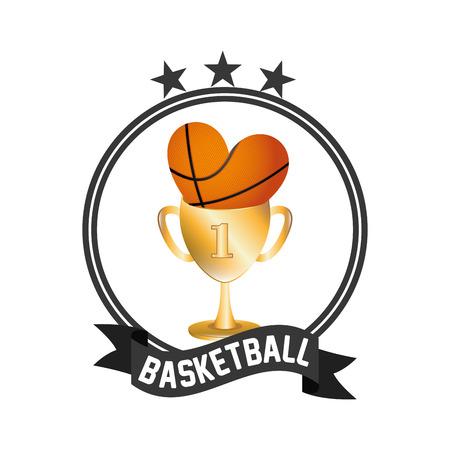 balon baloncesto: dise�o del emblema de baloncesto, ilustraci�n vectorial gr�fico eps10