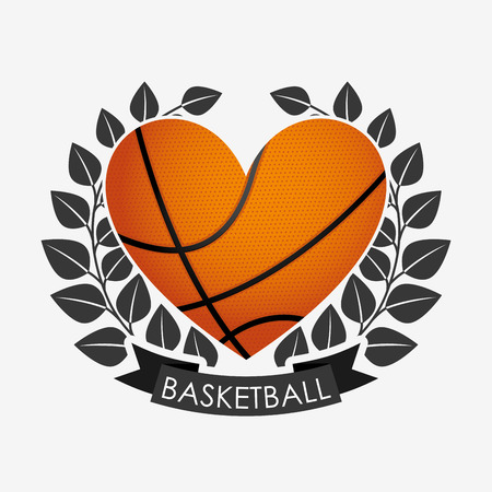 balon de basketball: diseño del emblema de baloncesto, ilustración vectorial gráfico eps10