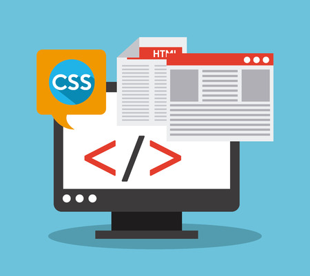 software: software development design, vector illustration eps10 graphic Illustration